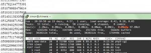 Screenshot showing 97.8% CPU stealing