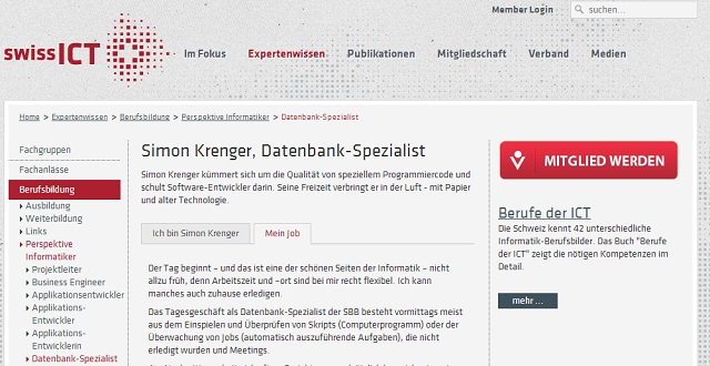 SwissICT: Simon Krenger - Datenbank-Spezialist